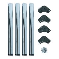 Gamba mobili EMUCA acciaio grigio cromato Ø 60 mm x H 73 cm 4 pezzi