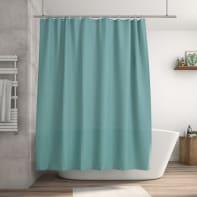 Tenda doccia Happy in poliestere blu L 180 x H 200 cm