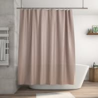 Tenda doccia Happy in 100% poliestere marrone L 180 x H 200 cm