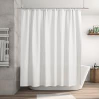 Tenda doccia Happy in poliestere bianco L 240 x H 200 cm