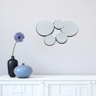 Specchio a parete tondo Meghan grigio 54x36 cm