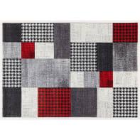 Tappeto Ray B , grigio e rosso, 160x230 cm