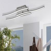 Plafoniera moderno Symphonie LED integrato cromato opaco, in alluminio, 60x15 cm, 3  luci EGLO