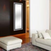 Specchio a parete rettangolare Matteo argento 58x143 cm