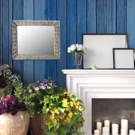 Specchio a parete rettangolare Grace bronzo 53x63 cm