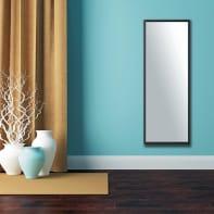 Specchio a parete rettangolare Milo xxl nero 40x140 cm