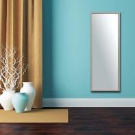 Specchio a parete rettangolare Milo xxl rovere 40x140 cm