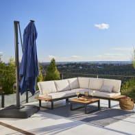 Tavolo da giardino allungabile rettangolare Oris NATERIAL con piano in legno L 180 x P 98.9 cm