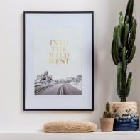 Cornice con passe-partout Inspire milo nero 70x100 cm