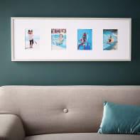 Cornice INSPIRE Milo per 4 fotografie 33x95 grigio