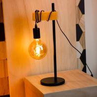 Lampada da tavolo Scandinavo Townshend nero, in metallo, EGLO
