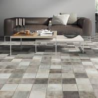 Pavimento laminato Piastrella Sp 8 mm grigio / argento