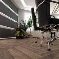 Pavimento laminato Herringbone Sp 11 mm marrone