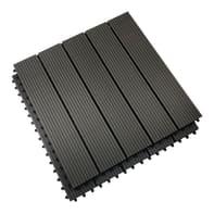 Piastrelle ad incastro Bpc Superior 2 pezzi in composito 60 x 60 cm Sp 25 mm,  grigio