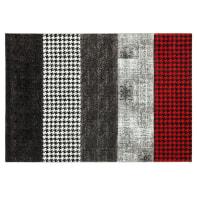 Tappeto Ray , grigio e rosso, 160x230 cm