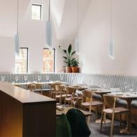 Lampadario Design Rond bianco in metallo, LUMICOM