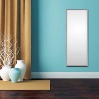 Specchio a parete rettangolare Cassettona argento 50x150 cm