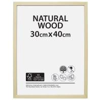 Cornice Natural wood naturale per foto da 30x40 cm