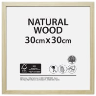 Cornice Natural wood naturale per foto da 30x30 cm