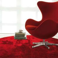 Tappeto Shaggy coccole , rosso, 150x150 cm