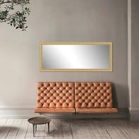 Specchio a parete rettangolare Foglia oro 40x125 cm