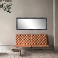 Specchio a parete rettangolare Forata nero 60x170 cm