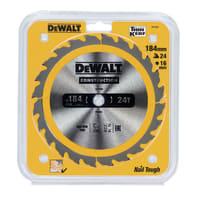 Lama per sega circolare DEWALT acciaio e carburo di tungsteno Ø 184 mm 24 denti