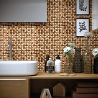 Mosaico Freedom Copper H 30 x L 30 cm rame/oro