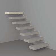 Gradino FONTANOT Wall Finale in legno bianco L 800 x P 85 x H 300 mm