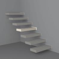 Gradino Wall in legno bianco L 800 mm H 300 mm
