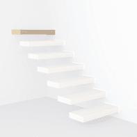 Gradino FONTANOT Wall Finale in legno marrone L 900 x P 85 x H 300 mm