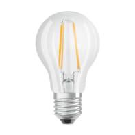 Lampadina LED filamento, E27, Goccia, Trasparente, Luce fredda, 4W=470LM (equiv 40 W), 300° , OSRAM