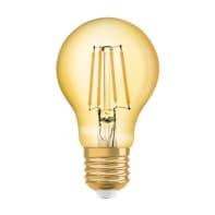 Lampadina decorativa LED filamento, E27, Goccia, Ambra, Luce calda, 6.5W=725LM (equiv 55 W), 320° , OSRAM
