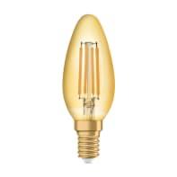 Lampadina decorativa LED E14, Oliva,  diffusore Ambra, col.luce Bianco, Luce calda, 4.5W=420LM (equiv 40 W), 300° , OSRAM