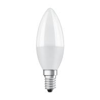 Lampadina LED E14, Oliva,  diffusore Opaco, col.luce Bianco, Luce calda, 8W=806LM (equiv 60 W), 200° , OSRAM