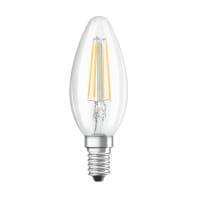 Lampadina LED, E14, Oliva, Trasparente, CCT, 4W=470LM (equiv 40 W), 300° , OSRAM