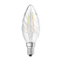 Lampadina LED filamento, E14, Torciglione, Trasparente, Luce calda, 2.5W=250LM (equiv 25 W), 300° , OSRAM