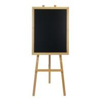 Lavagna Cavalletto in legno naturale h 165 cm beige 11.5x168.5 cm