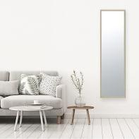 Specchio a parete rettangolare Milo rovere 30x120 cm INSPIRE