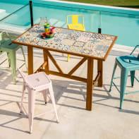 Set tavolo e sedie Soho in acacia multicolore 4 posti