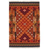 Tappeto persiano Kilim Sivas 1 in lana, marrone, 60x120 cm