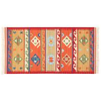 Tappeto persiano Kilim jalal in lana, rosso, 160x230 cm
