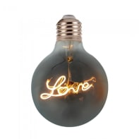 Lampadina decorativa LED, E27, Globo, Ambra, Luce calda, 5W=70LM (equiv 30 W), 300°