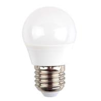 Lampadina LED E27, Sferico,  diffusore Opaco, col.luce Bianco, Luce naturale, 5.5W=470LM (equiv 35 W), 180°