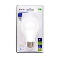 Lampadina LED E27 standard bianco freddo 9W = 806LM (equiv 80W) 200°