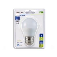 Lampadina LED E27, Sferico,  diffusore Opaco, col.luce Bianco, Luce naturale, 4W=320LM (equiv 25 W), 180°