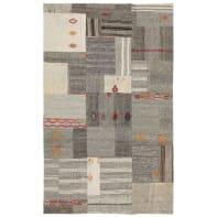 Tappeto Anatolian patchwork in lana, grigio, 200x300 cm