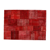 Tappeto Anatolian patchwork in lana, rosso, 140x200 cm