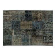 Tappeto Anatolian patchwork in lana, grigio, 170x240 cm
