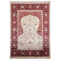 Tappeto Qoum Shah 1 in cotone, beige, 80x150 cm